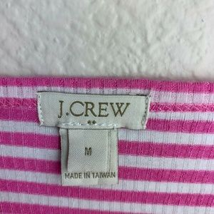 J. Crew Tops - J Crew pink and white stripe top